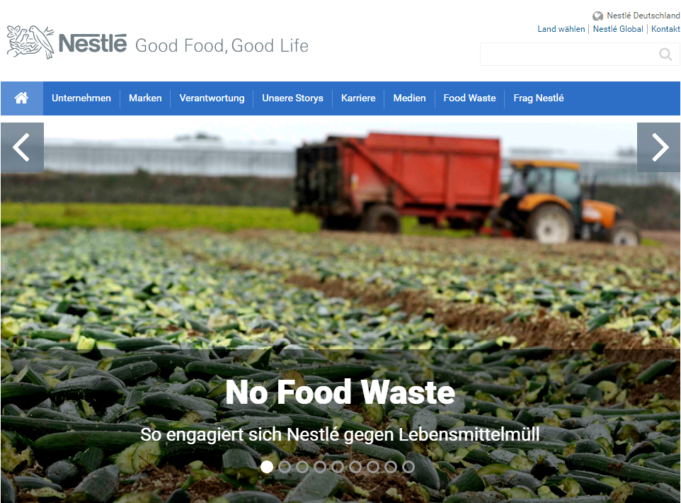 Web Application Developed for Nestle
