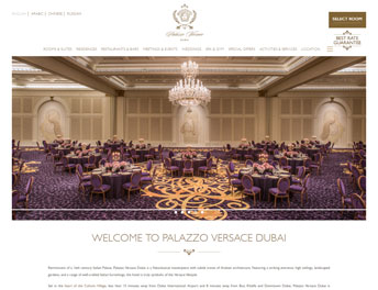 Web Application Developed for Palazzo Versace
