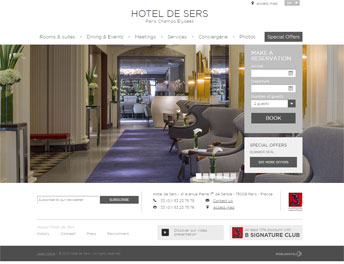 Web Application Developed for Hotel De Sers