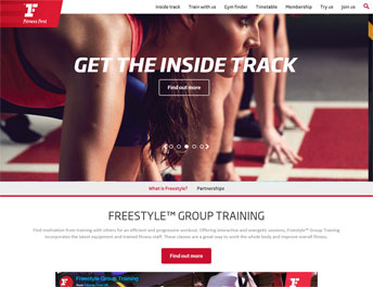 Web Application Developed for Fitness First